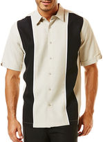 JCPenney The Havanera Co. Short-Sleeve Panel Insert Shirt