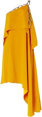 Monse Asymmetric Draped Chain-embellished Crepe Dress