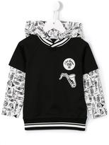 Dolce & Gabbana saxophone patch hoodie - kids - Cotton/Polyamide - 24 mth