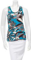 Dolce & Gabbana Abstract Print Sleeveless Top