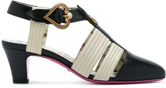 Gucci mid-heel T-strap sandals