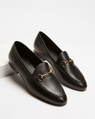 Atmos & Here Atmos&Here - Women's Black Brogues & Loafers - Alexandra Leather Flats - Size 5 at The Iconic
