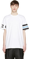 Givenchy White Numbers & Stripes T-Shirt