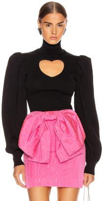 MSGM Heart Keyhole Sweater in Black | FWRD