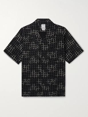 Visvim Camp-Collar Printed Voile Shirt