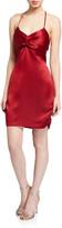 Anastasia Beverly Hills Parker Black Satin Halter Slip Dress w/ Twisted Bodice