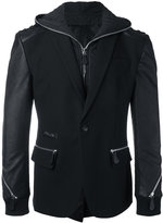 Philipp Plein zip detailed blazer jacket - men - Cotton/Polyester/Spandex/Elastane/Viscose - 46