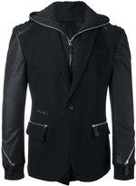 Philipp Plein zip detailed blazer jacket - men - Cotton/Polyester/Spandex/Elastane/Viscose - 50