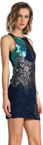 Cynthia Rowley Foiled Lace Fitted Tank Dress