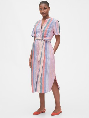 Gap Midi Shirtdress in Linen-Cotton