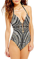 Kenneth Cole New York Desert Romance Halter One-Piece