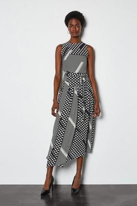 Mixed Spot Asymmetric Dress