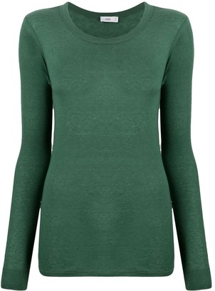 Closed Round-Neck Knit Jumper