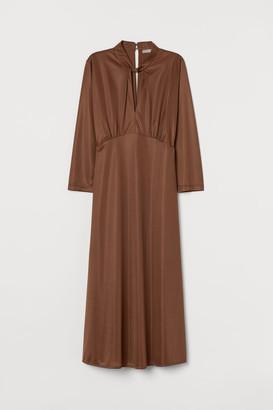 H&M Dress with Twisted Collar - Orange