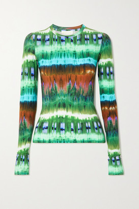 MARCIA Tie-dyed Stretch-jersey Top - Green