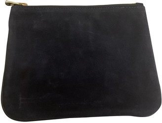 Balmain For H&m Navy Suede Handbags
