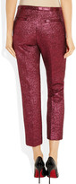 Marc Jacobs Cropped metallic bouclé wool-blend pants