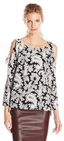 French Connection Women's Paisley Party Crepe Top