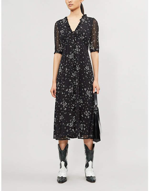055ba4ffd7 Cindy heart-print recycled polyester midi dress