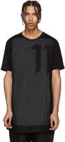 11 By Boris Bidjan Saberi Black Contrast-Panel T-Shirt