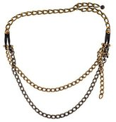 Lanvin Metallic Chain-Link Belt