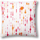 Dransfield and Ross Treads 22x22 Pillow, Coral/White