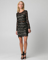 Le Château Sequin & Lace Two-Piece Cocktail Dress