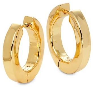 Nest Hammered 22K Goldplated Large Huggie Hoop Earrings