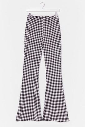 Nasty Gal Womens Not a Flare in the World Gingham Pants - Black