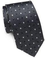 Saint Laurent Square Patterned Silk Tie