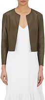 The Row Women's Collarless Stanta Jacket-DARK GREEN