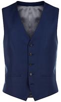 Jaeger Basketweave Wool Slim Waistcoat, French Navy