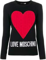 Love Moschino heart jumper