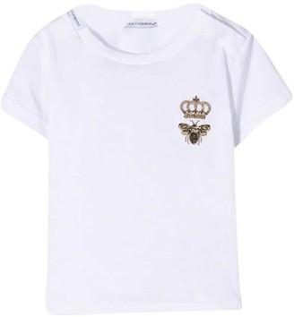 Dolce & Gabbana White Newborn T-shirt