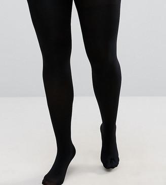 ASOS DESIGN Curve new and improved fit 140 denier black tights