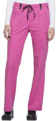 Scrubstar Women's Stretch Twill Color Accent Drawstring Cargo Scrub Pant