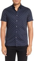 Ted Baker 'Jershor' Trim Fit Short Sleeve Sport Shirt
