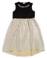 Design History Girl's Embellished Metallic Fit-&-Flare Dress