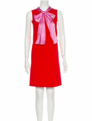Gucci 2017 Mini Dress Red