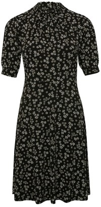 M&Co Petite Floral ditsy shirred midi dress