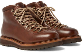 Brunello Cucinelli Shearling-Lined Leather Boots
