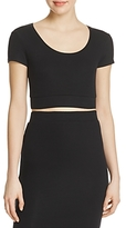 ATM Anthony Thomas Melillo Solid Cropped Top