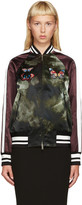 Valentino Multicolor Embroidered Tie Dye Bomber Jacket