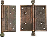 "Rejuvenation Pair Of Large 5in Bronze R&e ""damascene"" Hinges"