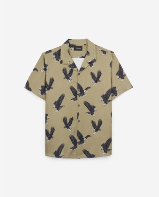 The Kooples Printed mens shirt with eagle motif