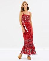 Sass Desert Floral Shirred Maxi Dress