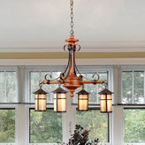 Dale Tiffany Dale TiffanyTM Round Lantern 4-Light Hanging Fixture