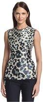 Derek Lam Women's PF14DL790 Print Front Combo Top