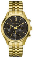 Caravelle New York Chronograph Dress Collection Goldtone Stainless Steel Watch