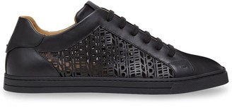 Fendi Logo Cut Out Sneakers
